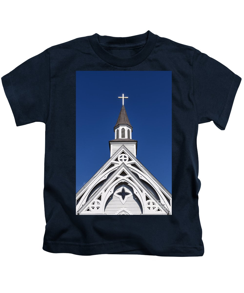 Connecticut Kids T-Shirt featuring the photograph Country Church by John Greim