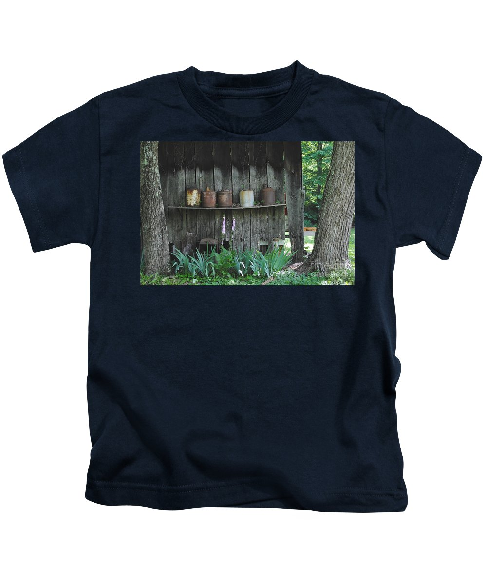 Country Kids T-Shirt featuring the photograph Country Jugs by Jost Houk