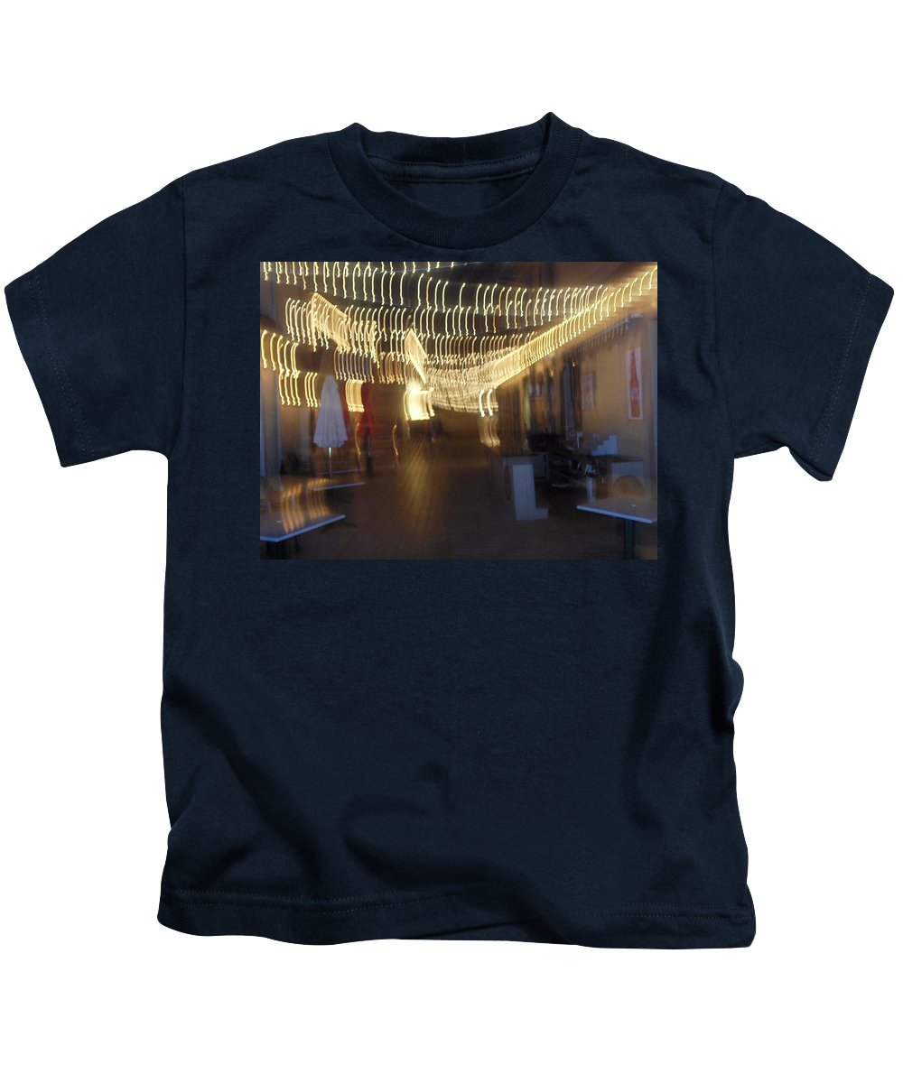 Photograph Kids T-Shirt featuring the photograph Courtside Lounge by Thomas Valentine
