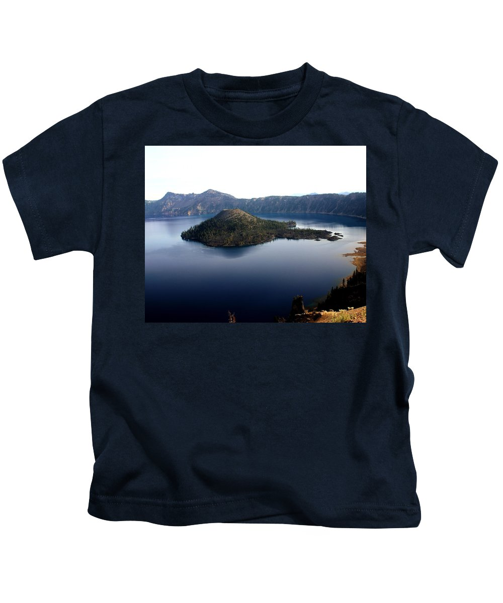 Crater Lake Kids T-Shirt featuring the photograph Crater Lake 2 by Marty Koch