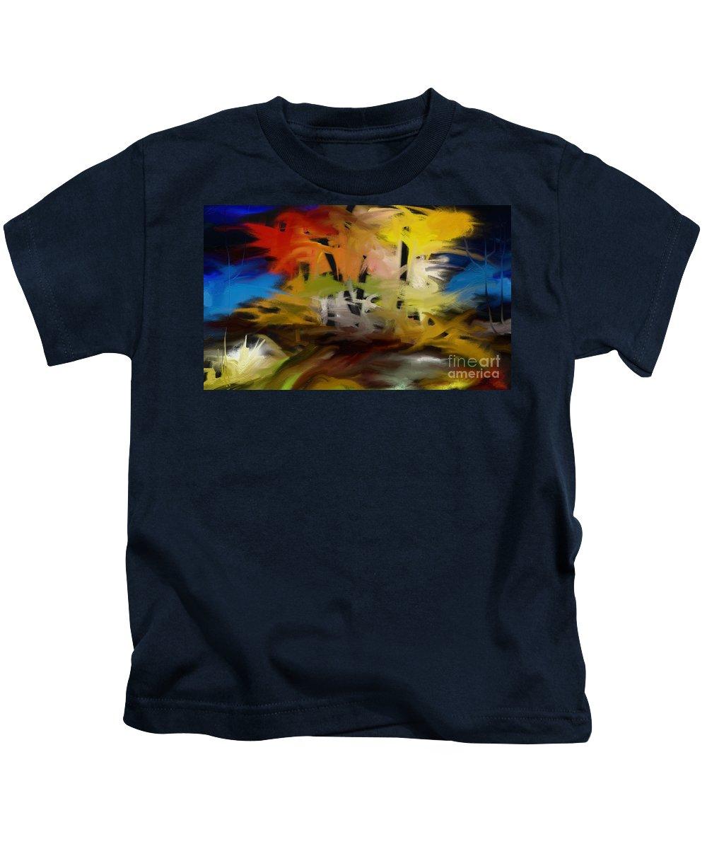 Digital Kids T-Shirt featuring the painting Crazy Nature by Rushan Ruzaick