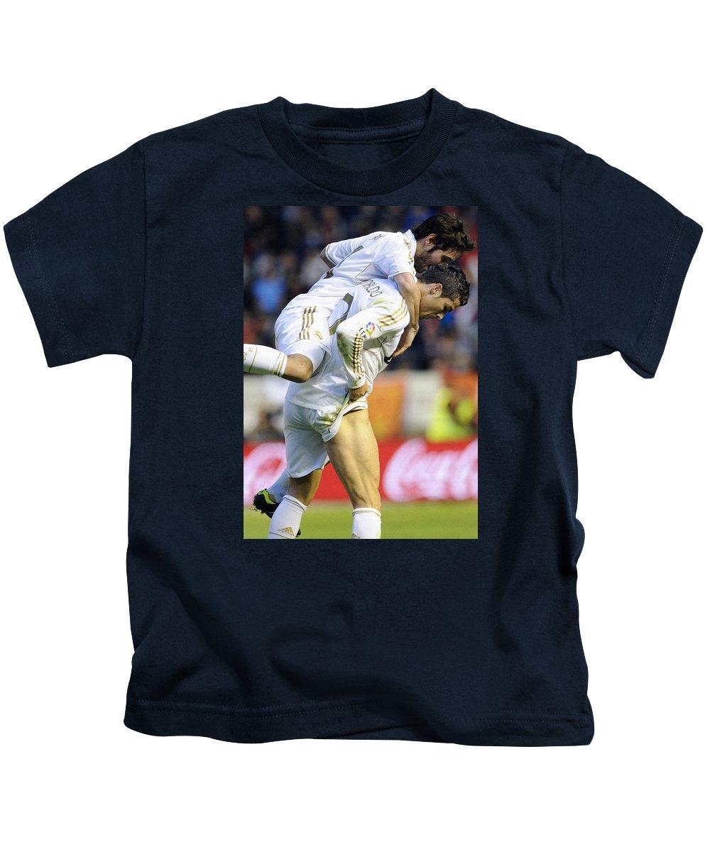 Cristiano Ronoaldo Kids T-Shirt featuring the photograph Cristiano Ronaldo 5 by Rafa Rivas