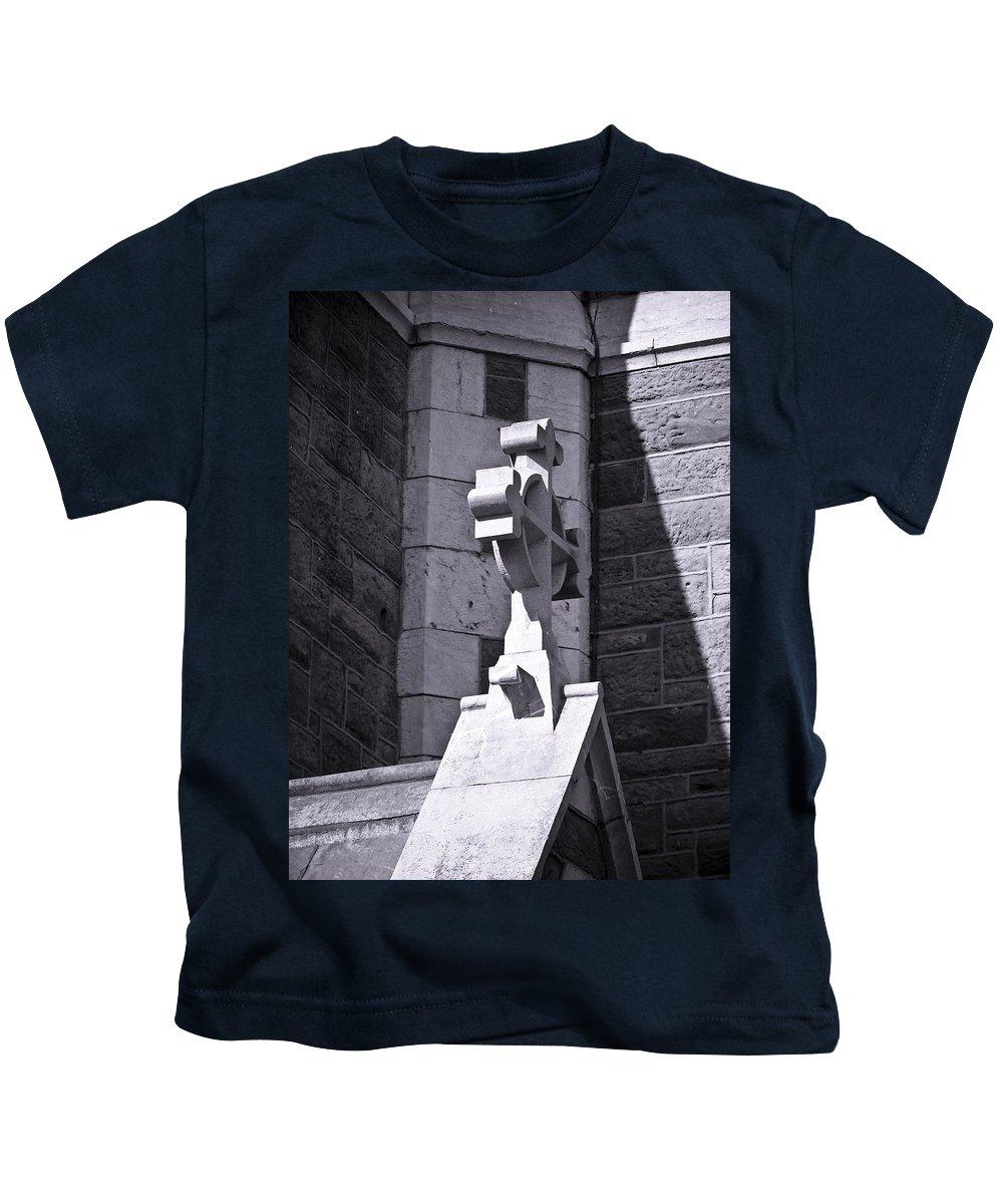 Irish Kids T-Shirt featuring the photograph Cross At St. Johns Tralee Ireland by Teresa Mucha