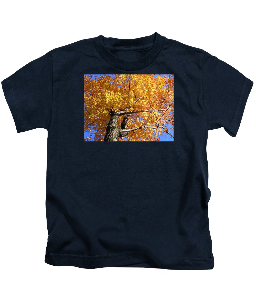 Trees Kids T-Shirt featuring the photograph Crown Fire by Dave Martsolf