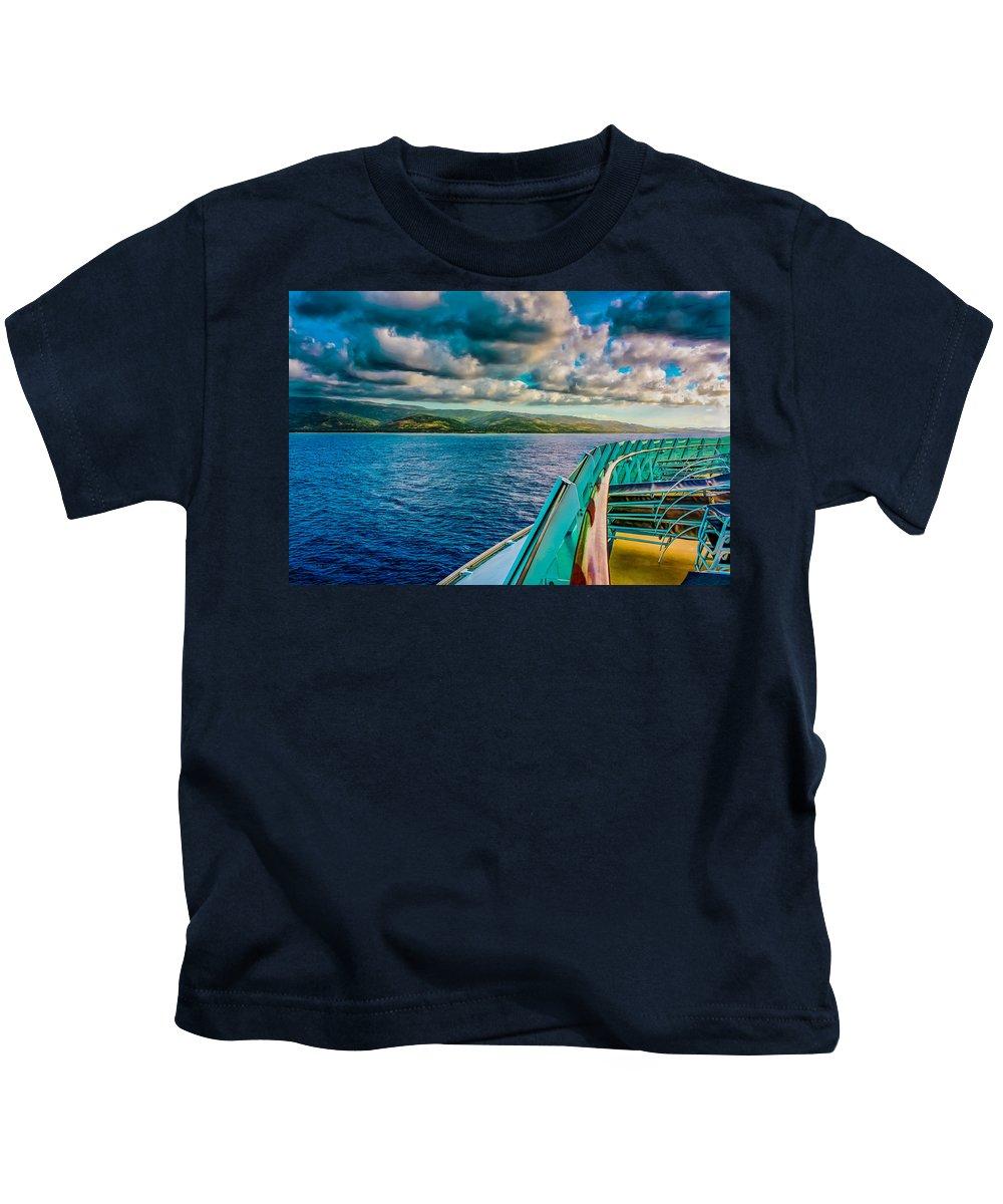 Landscape Kids T-Shirt featuring the photograph Cruising Hispaniola by John M Bailey