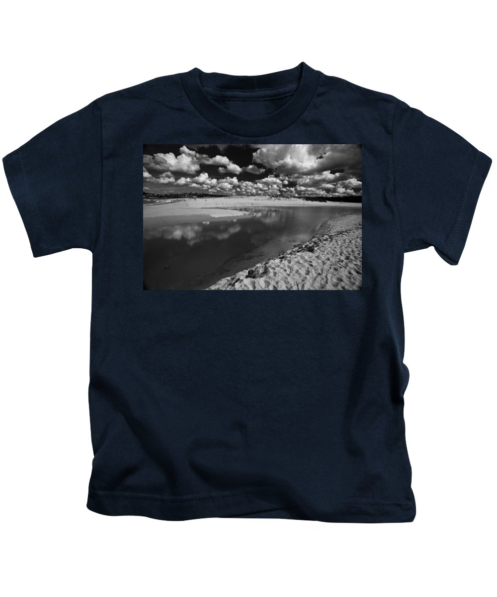 Beach Kids T-Shirt featuring the photograph Curl Curl Beach with dramatic sky by Sheila Smart Fine Art Photography