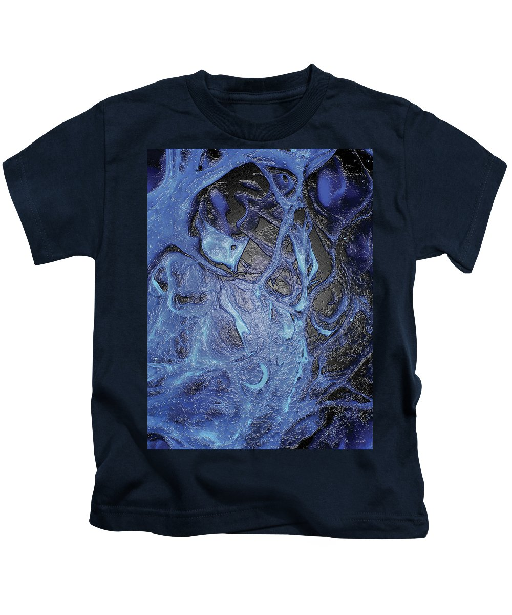 Abstract Kids T-Shirt featuring the digital art Dancer In Blue by Amy Nordby