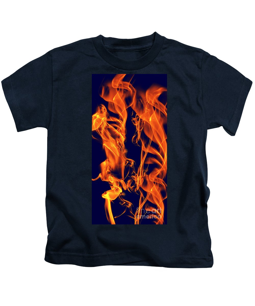 Clay Kids T-Shirt featuring the digital art Dancing Fire I by Clayton Bruster