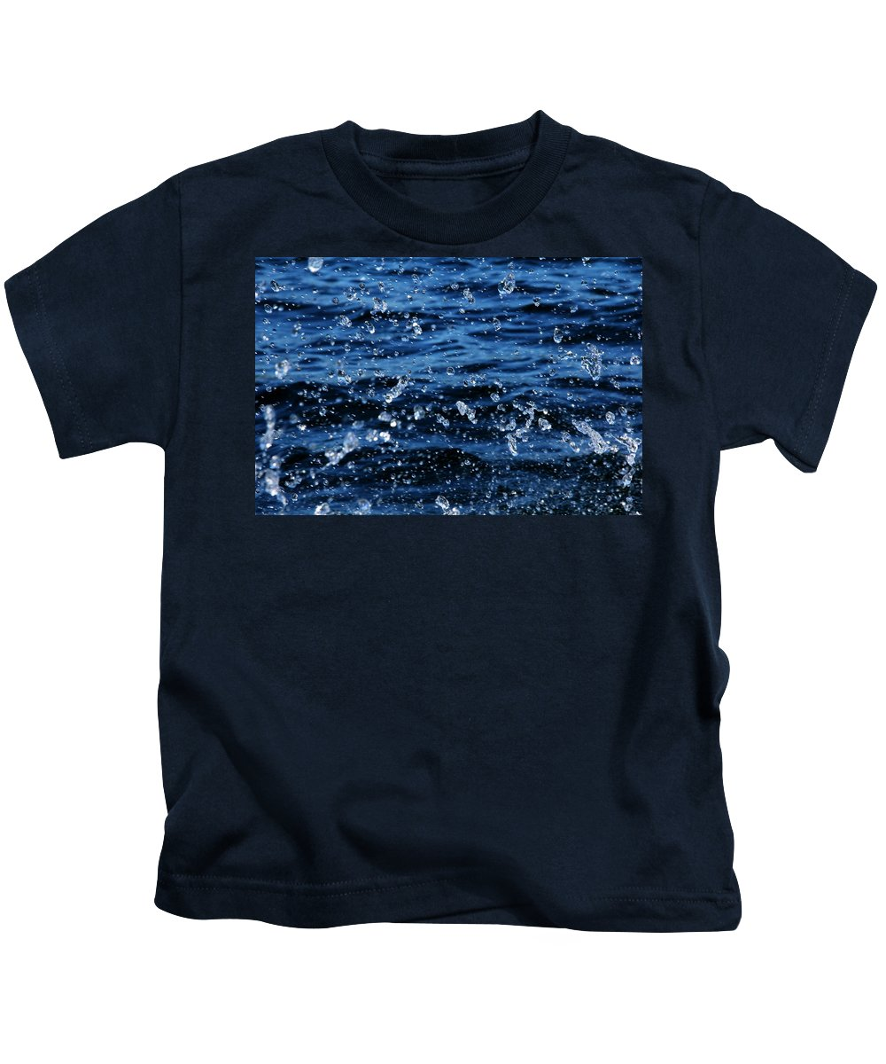 Abstract Kids T-Shirt featuring the photograph Dancing Water by Debbie Oppermann