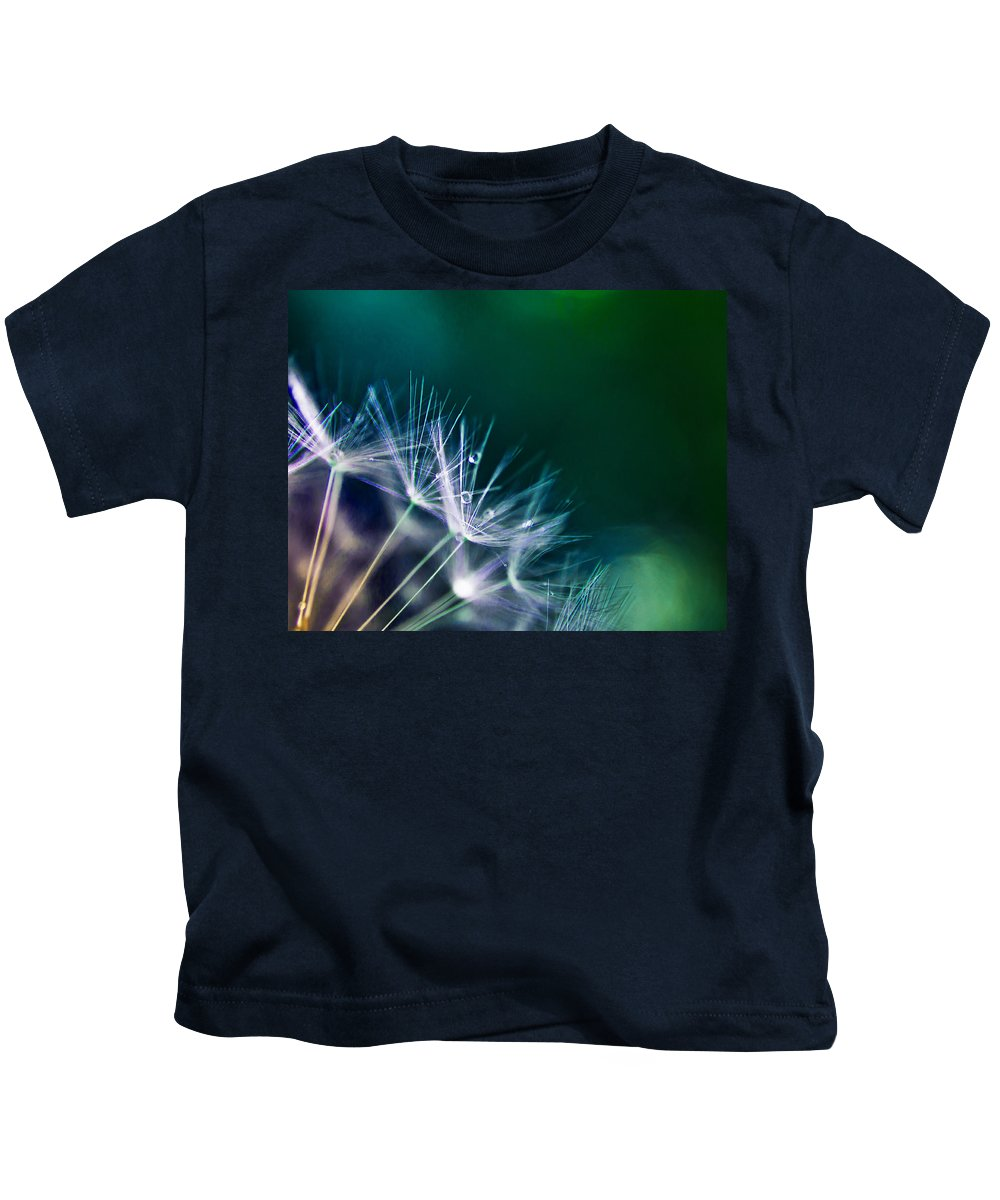 Diamonds Kids T-Shirt featuring the photograph Dandelion Fairy Tale by Alex Art and Photo