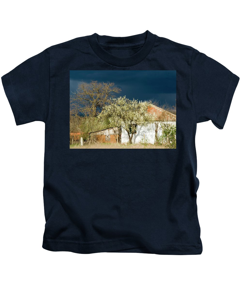 Sky Kids T-Shirt featuring the photograph Darkclouds by Cliff Norton