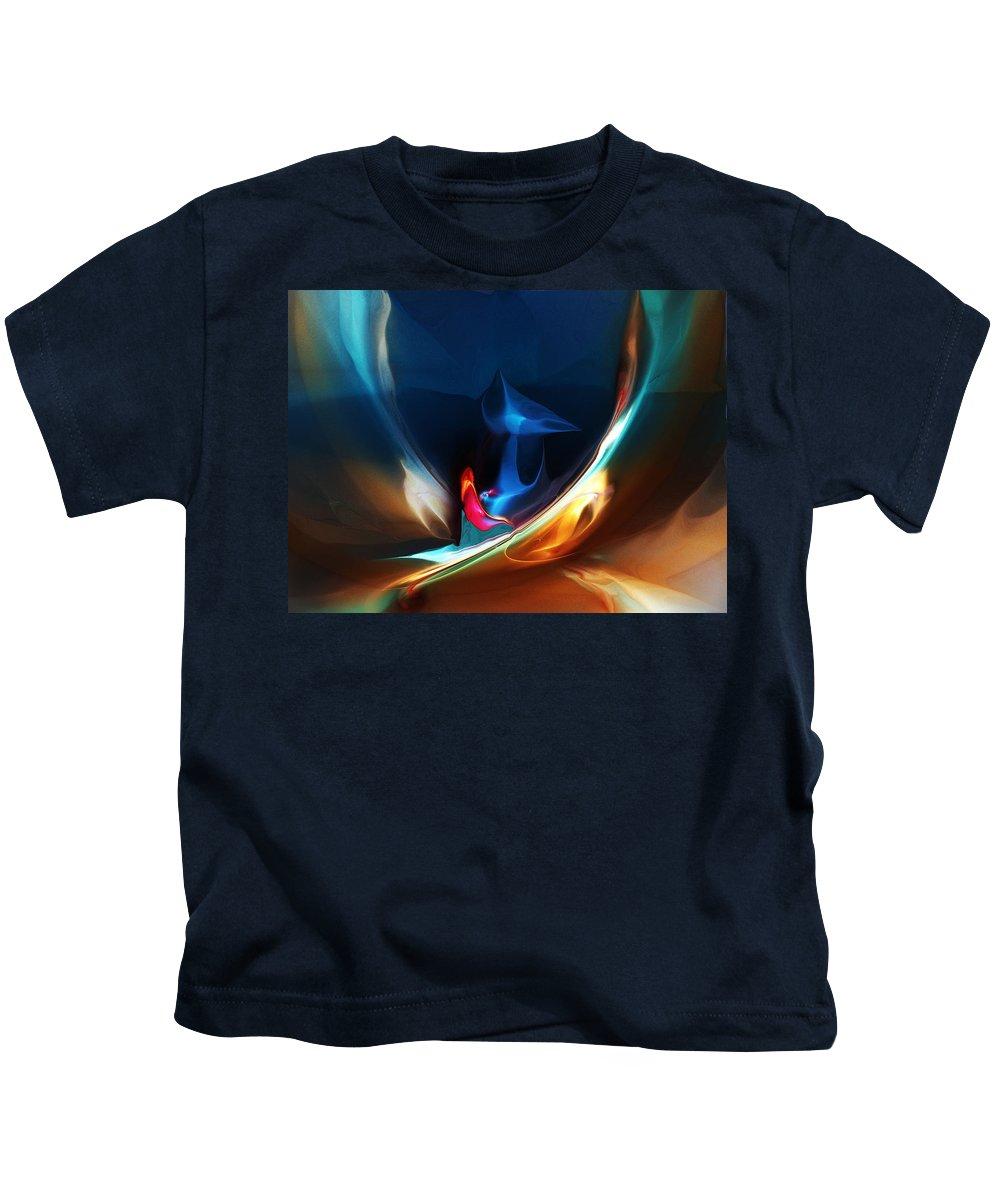Fine Art Kids T-Shirt featuring the digital art Deja Vu by David Lane