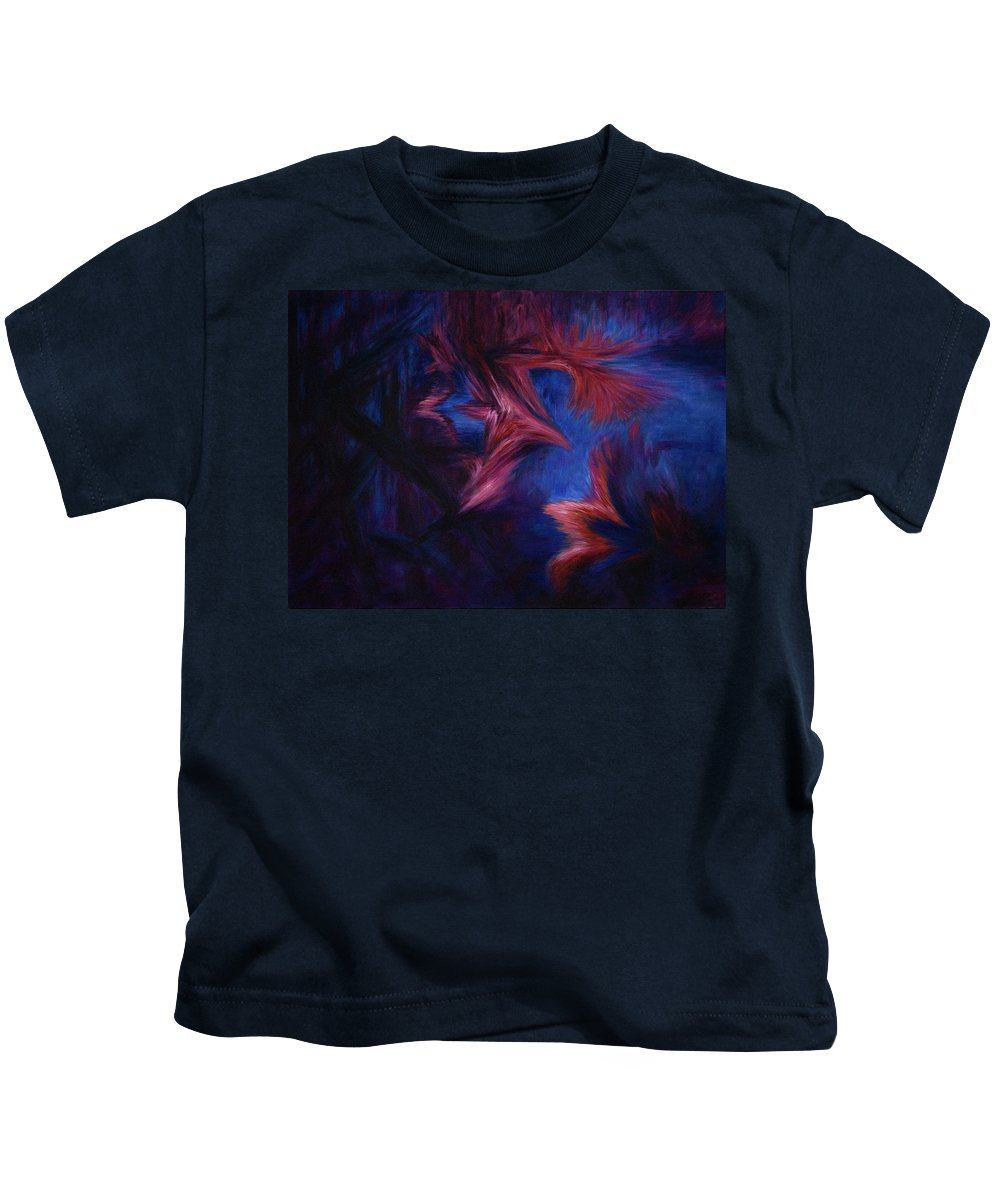 Abstract Kids T-Shirt featuring the painting Deja Vu by Rachel Christine Nowicki