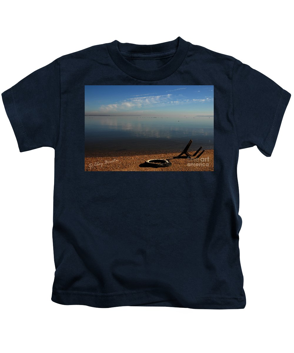Clay Kids T-Shirt featuring the photograph Deserted Beach by Clayton Bruster