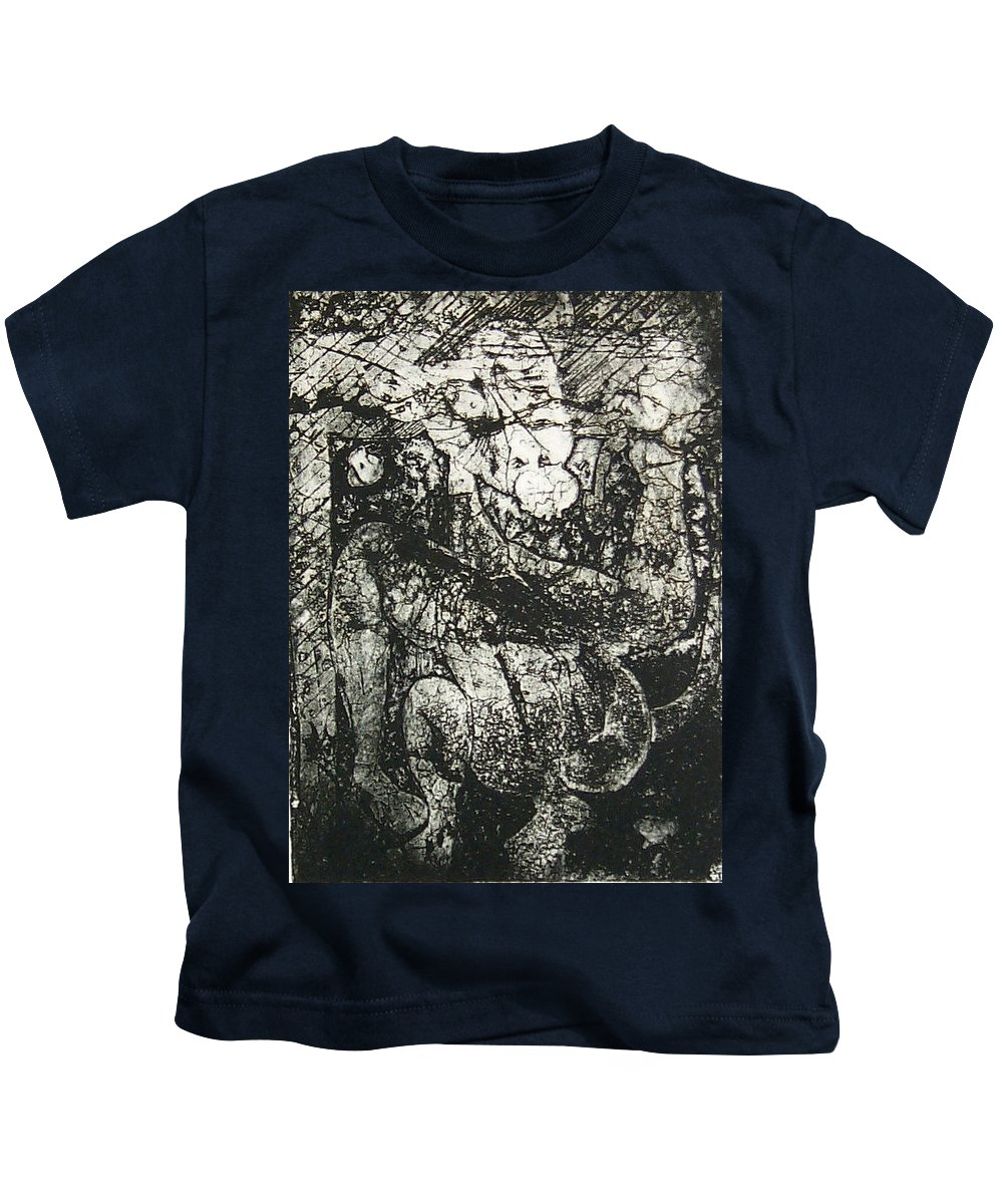 Etching Kids T-Shirt featuring the print Destroy Plate by Thomas Valentine