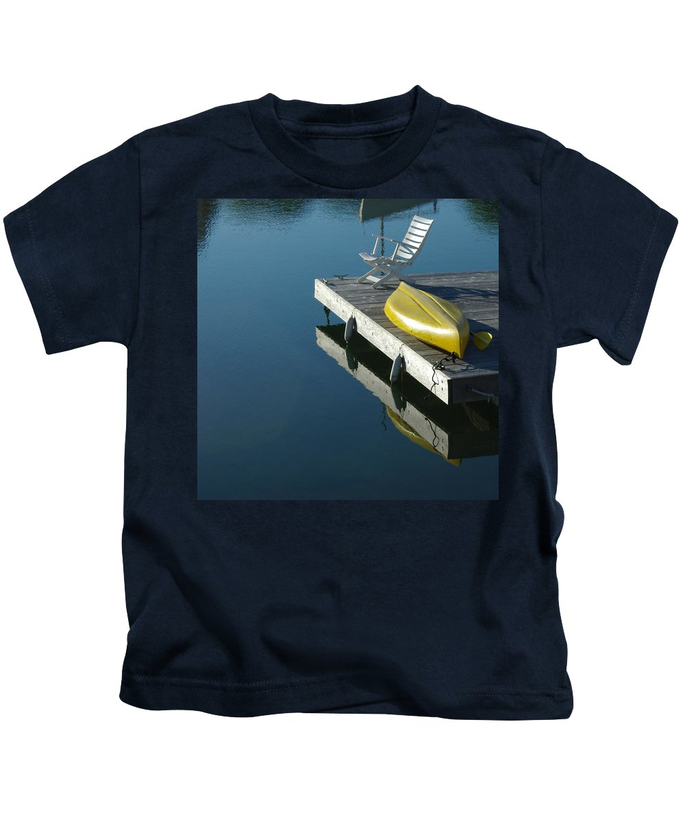 Landscape Nautical New England Kennebunkport Kids T-Shirt featuring the photograph Dnre0609 by Henry Butz
