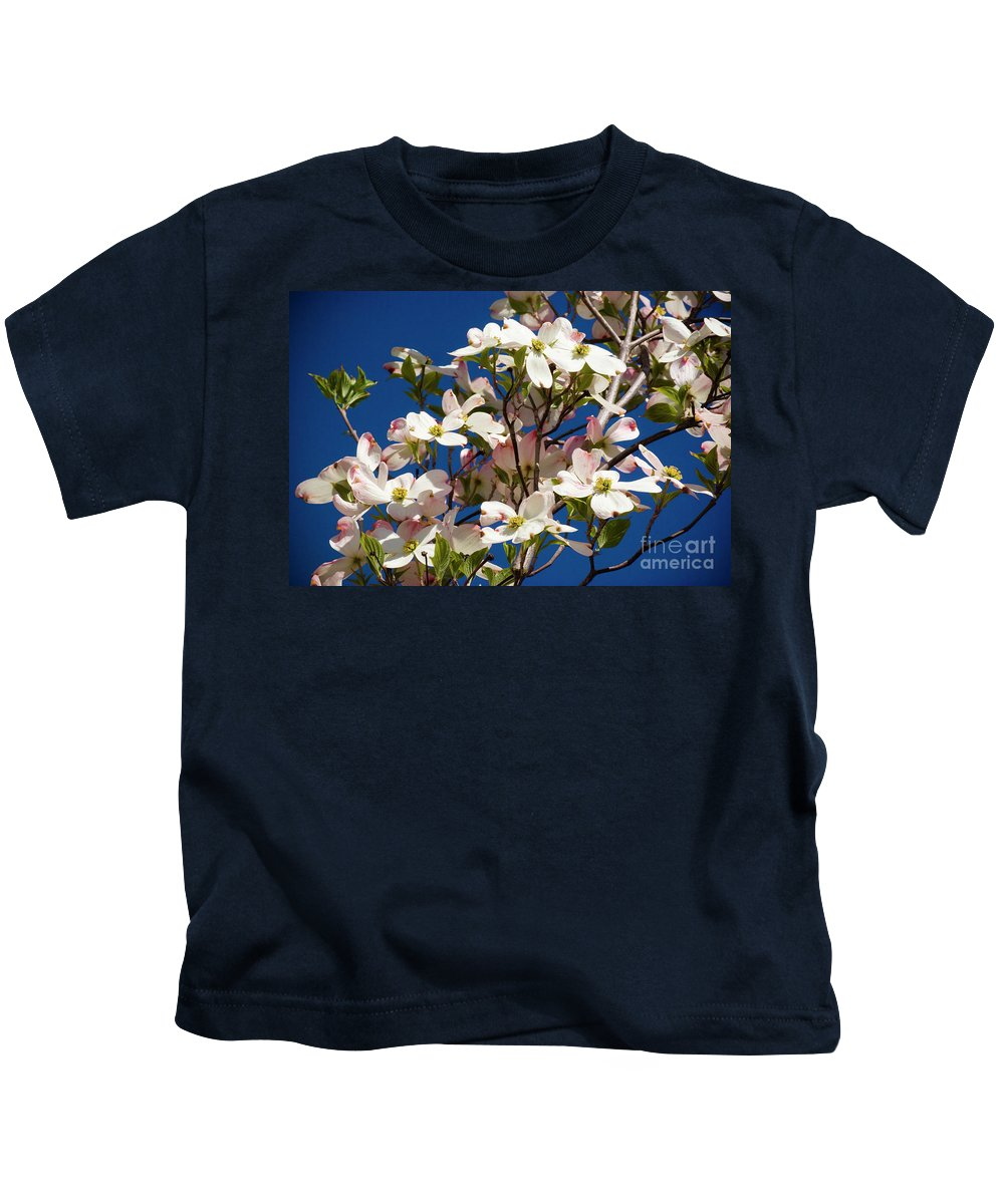 Dogwood Kids T-Shirt featuring the photograph Dogwood Sky by Jim And Emily Bush