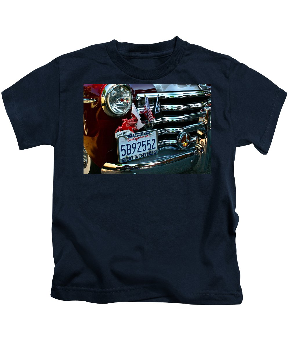 Photograph Kids T-Shirt featuring the photograph Drive Safely by Gwyn Newcombe