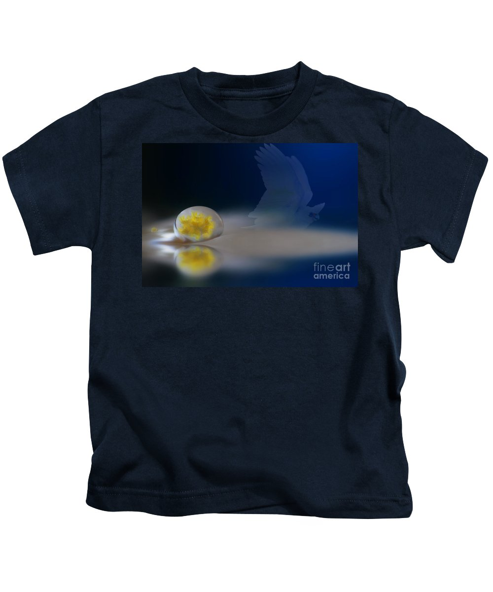 Beautiful Kids T-Shirt featuring the photograph Droplet On A Cockatoo Feather by Kym Clarke