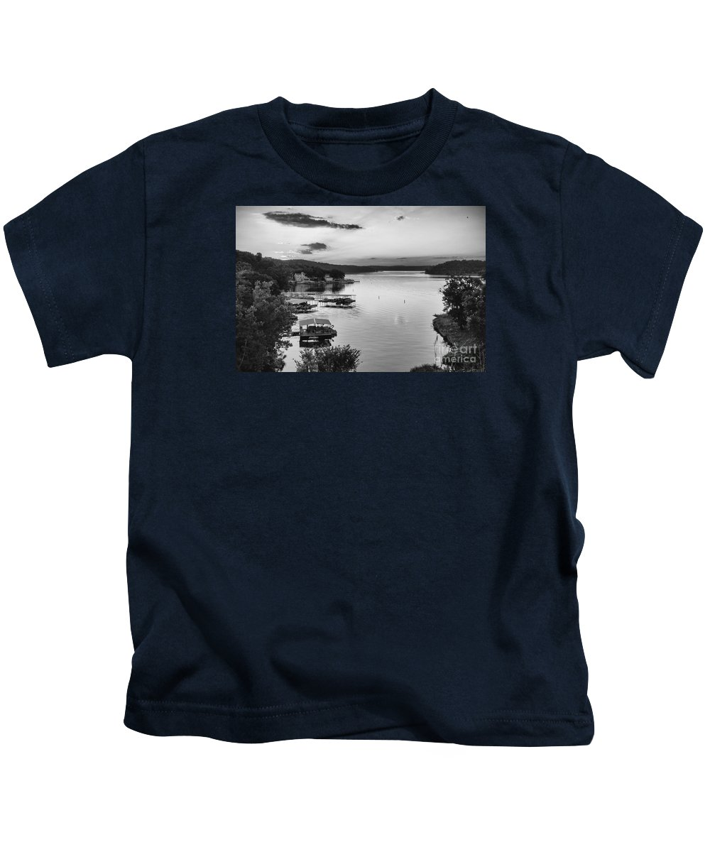 Lake Kids T-Shirt featuring the photograph Early Morning Ozarks by Dennis Hedberg