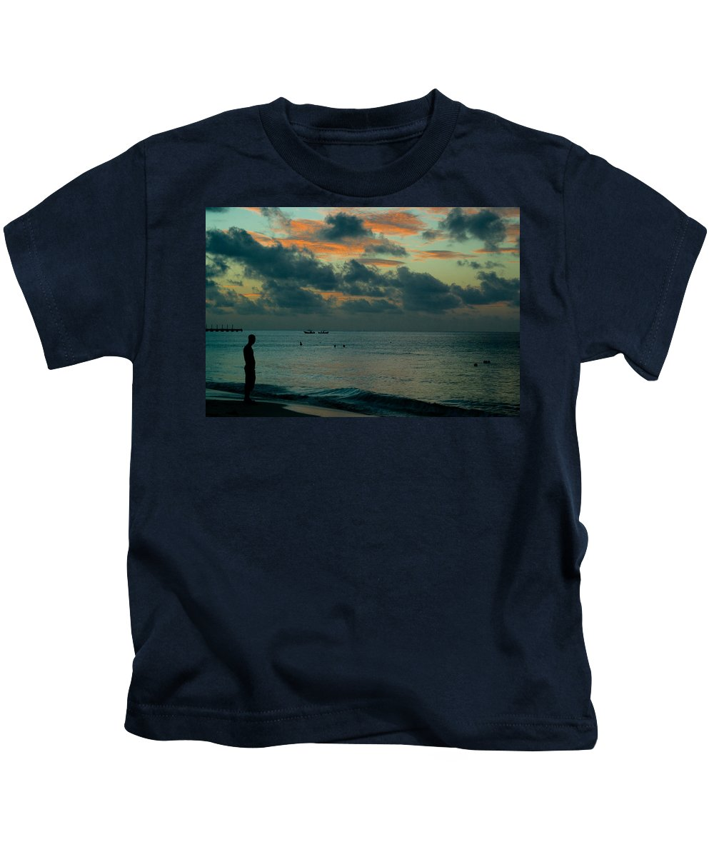 Sea Kids T-Shirt featuring the photograph Early Morning Sea by Douglas Barnett