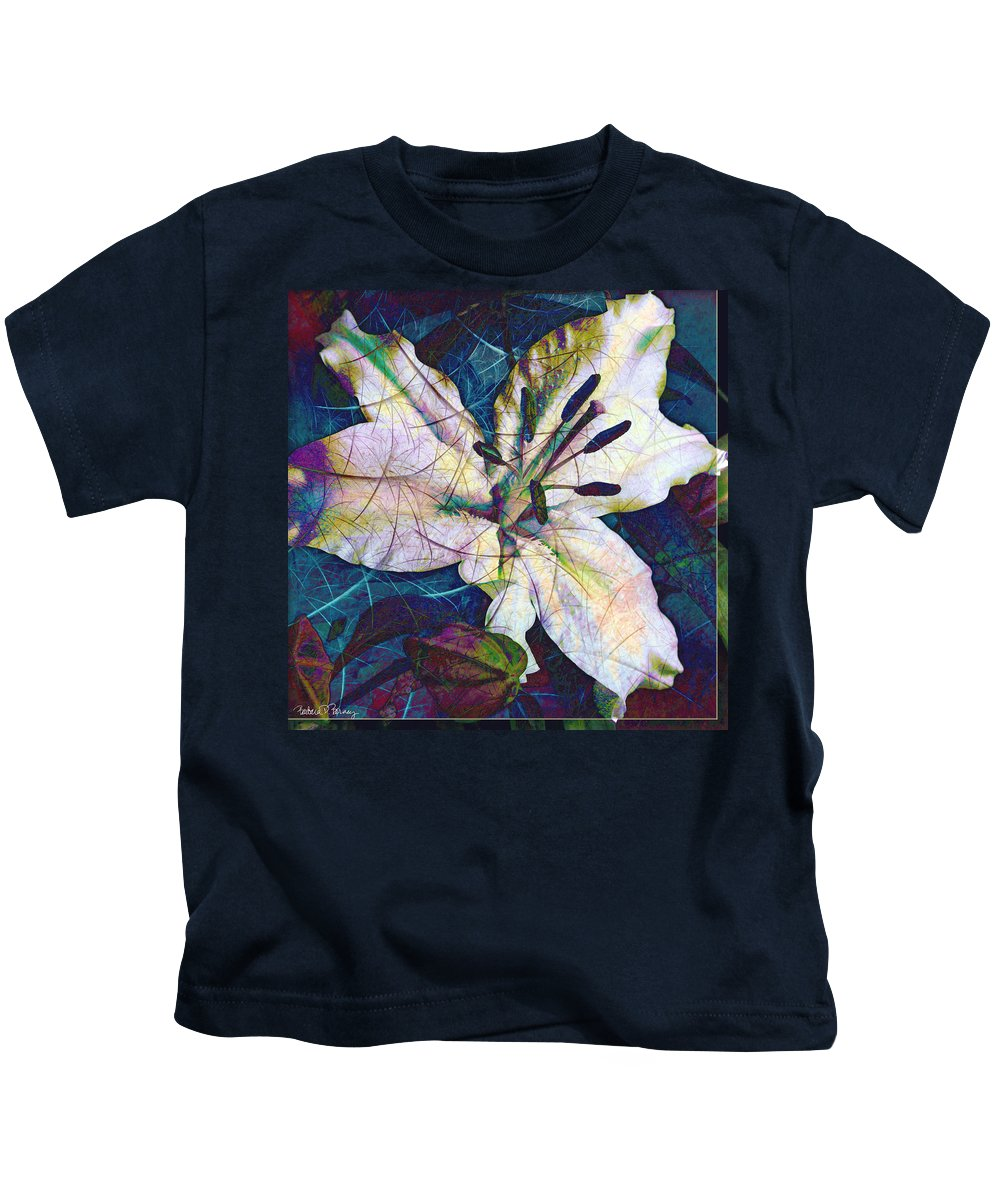 Easter Kids T-Shirt featuring the digital art Easter Lily by Barbara Berney