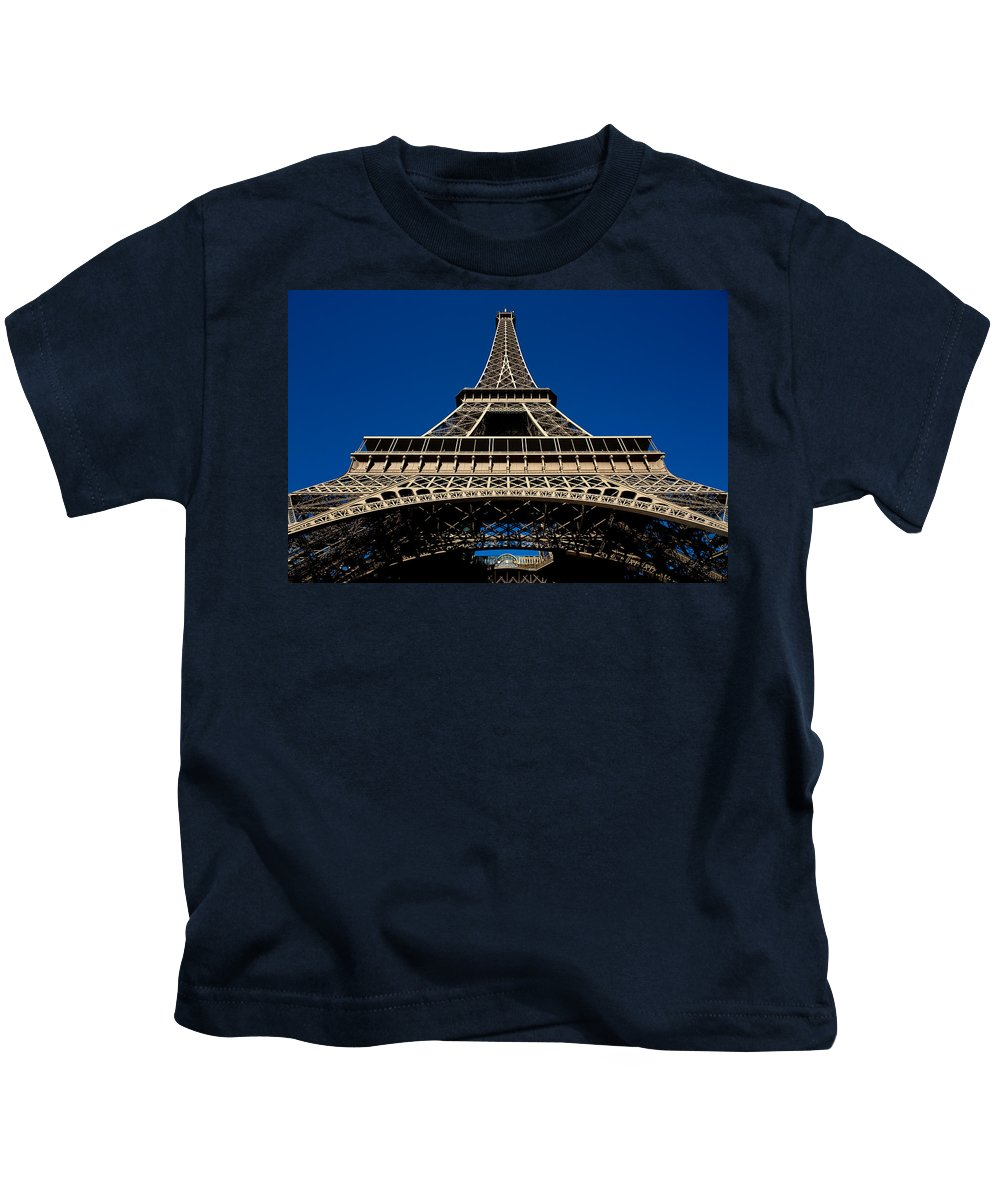 Cityscape Kids T-Shirt featuring the photograph Eiffel Tower I by Olivier De Rycke