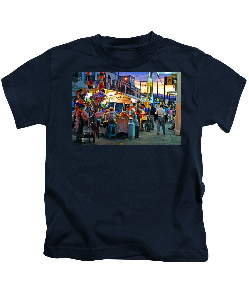 Skip Hunt Kids T-Shirt featuring the photograph El Flamazo by Skip Hunt