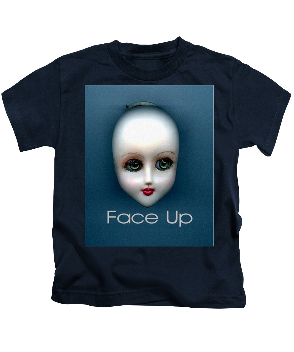Face Up Kids T-Shirt featuring the photograph Face Up by T Cook