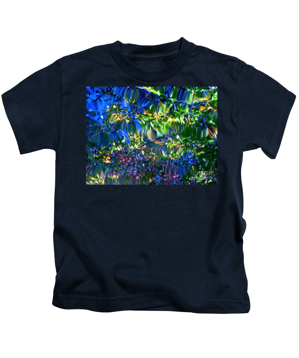 Water Kids T-Shirt featuring the photograph Faerie Frenzy by Sybil Staples