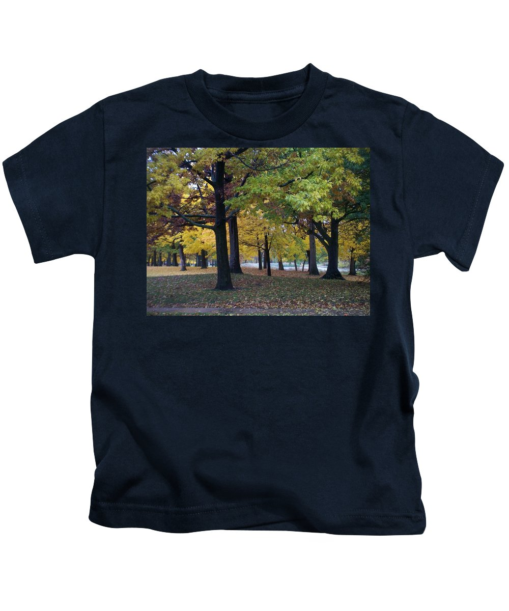 Fall Kids T-Shirt featuring the photograph Fall Series 14 by Anita Burgermeister