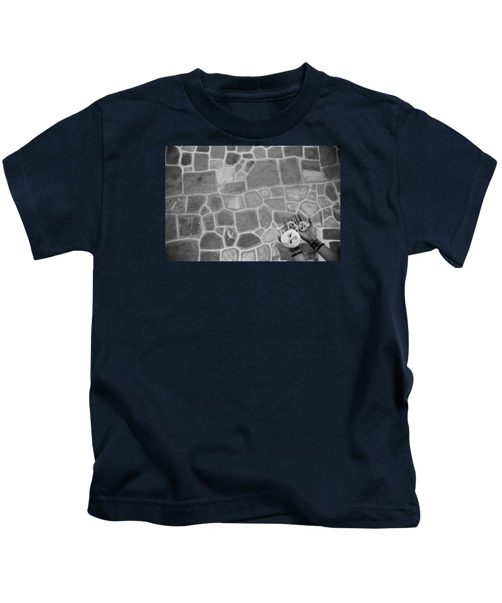 Greece Kids T-Shirt featuring the painting Family by Anouk Aumont