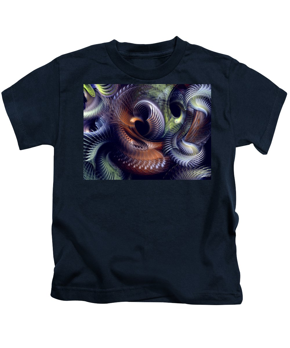 Abstract Kids T-Shirt featuring the digital art Fantastique by Casey Kotas