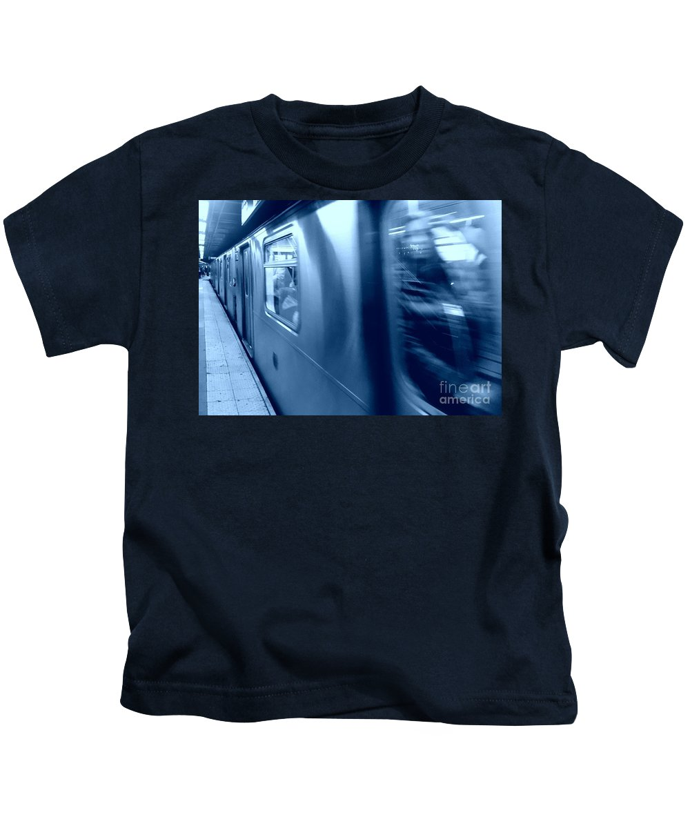 Train Kids T-Shirt featuring the photograph Fast Track by Jamel Thomas