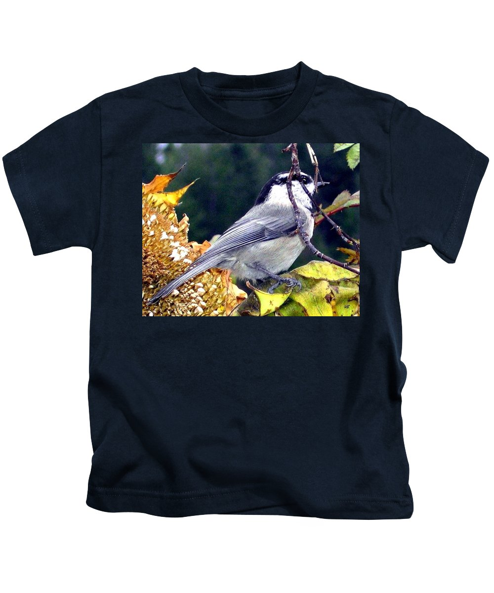 Autumn Kids T-Shirt featuring the photograph Feast For A Chickadee by Will Borden
