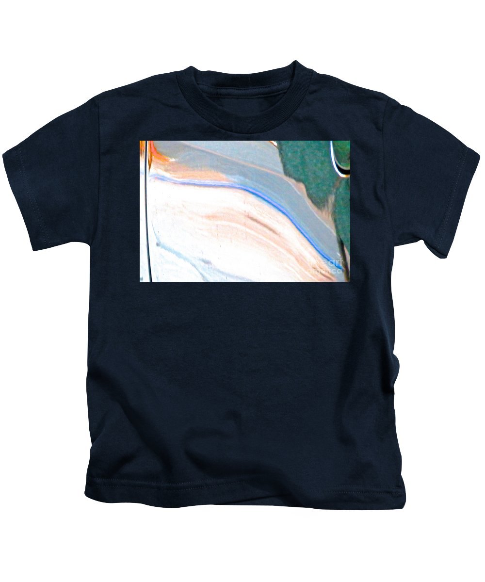 Abstract Kids T-Shirt featuring the photograph Ferrari 20 Abstract by Ken Lerner