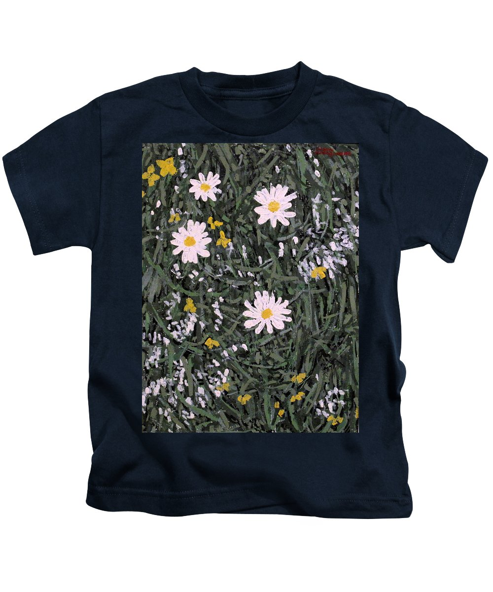Daisies Kids T-Shirt featuring the painting Field Daisies by Ian MacDonald
