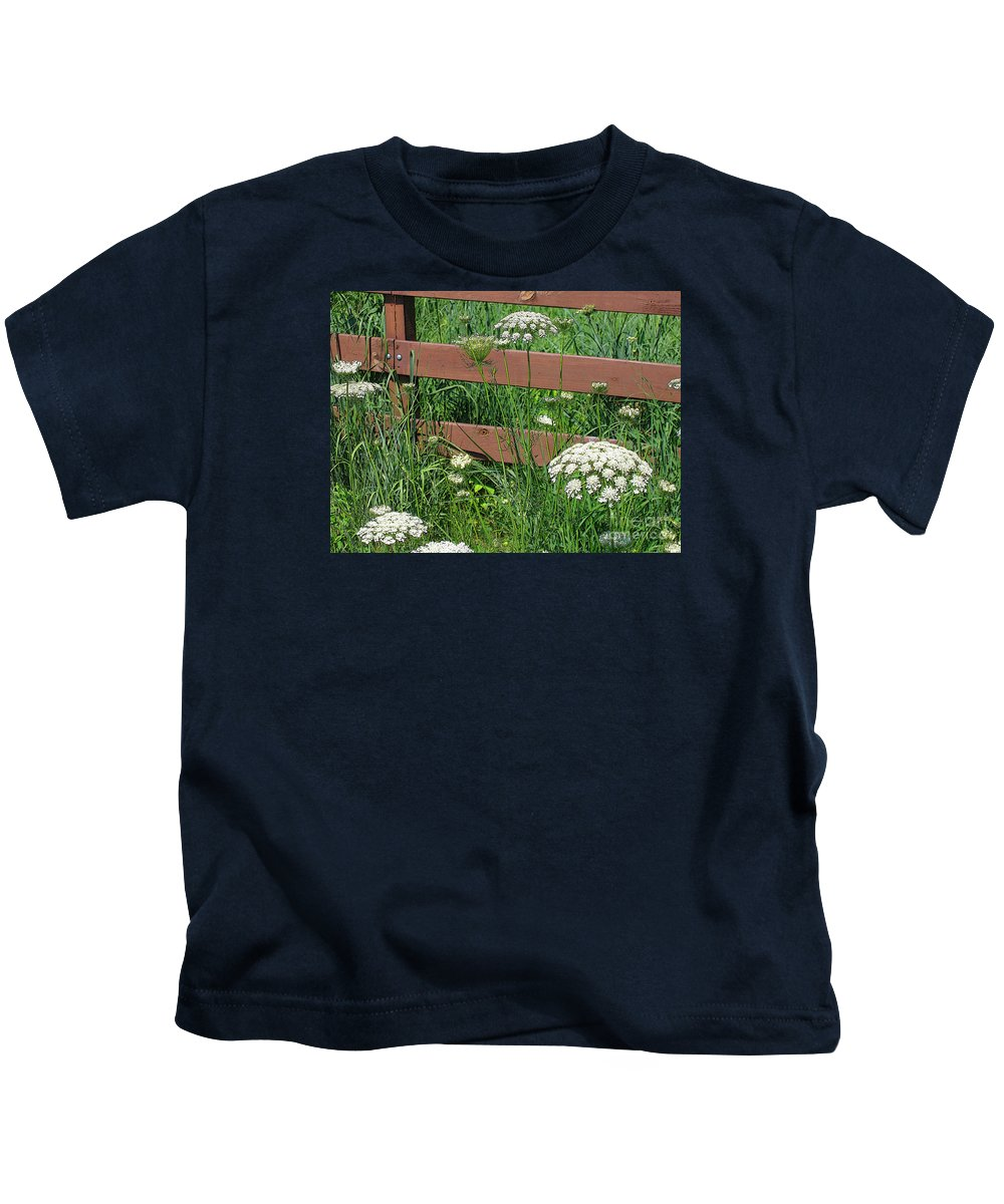 Flower Kids T-Shirt featuring the photograph Field Of Lace by Ann Horn