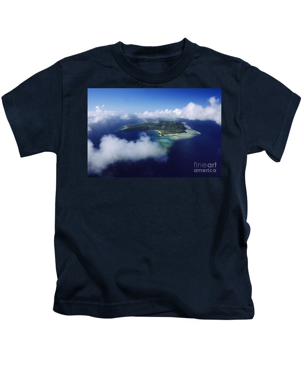 Aerial Kids T-Shirt featuring the photograph Fiji Aerial by Larry Dale Gordon - Printscapes