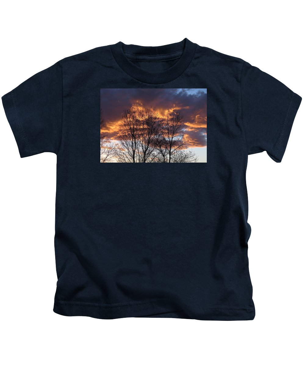 Sunset Kids T-Shirt featuring the photograph Fine Lines 2 by Bonnie See