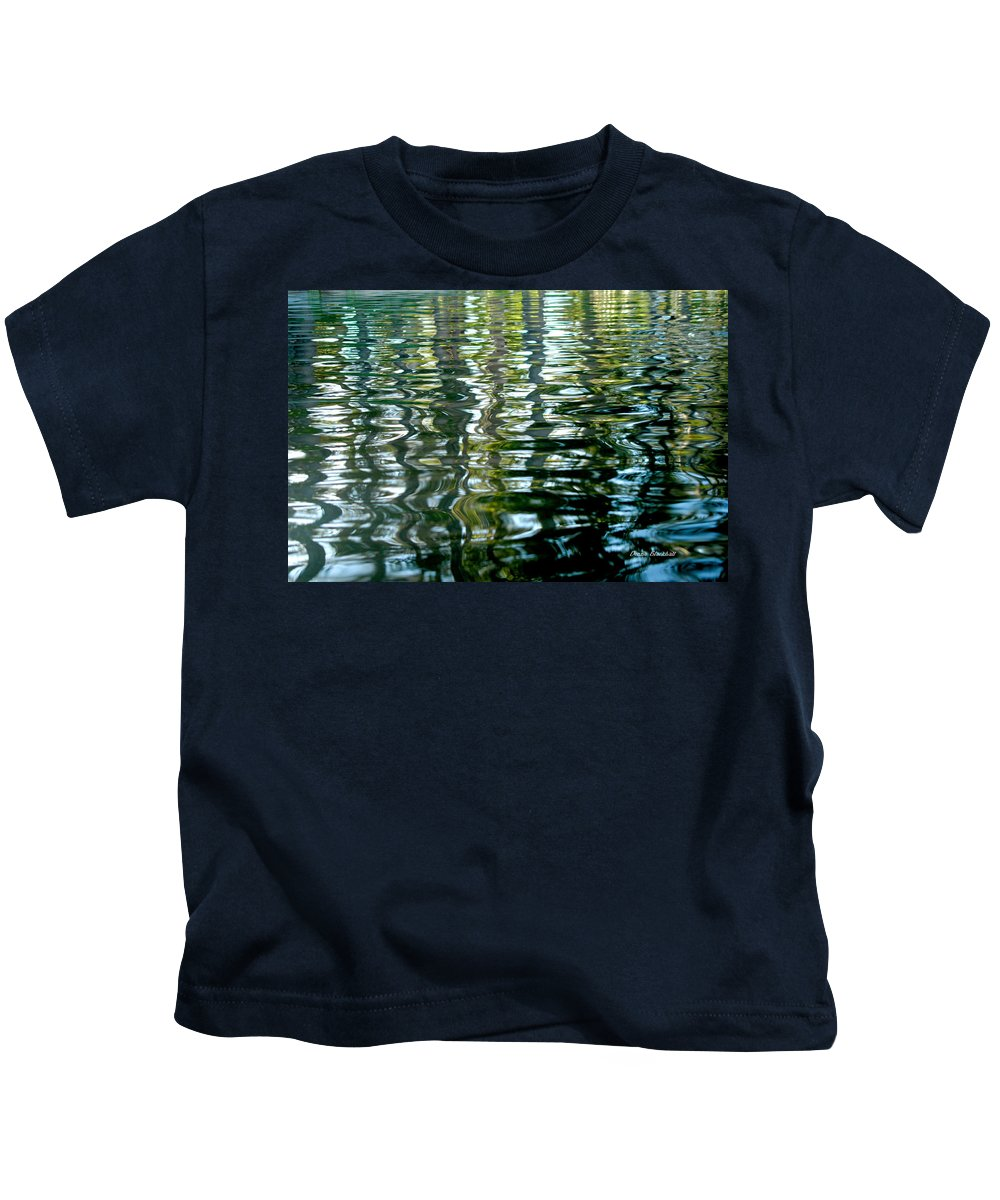 Water Kids T-Shirt featuring the photograph Finger Painting by Donna Blackhall