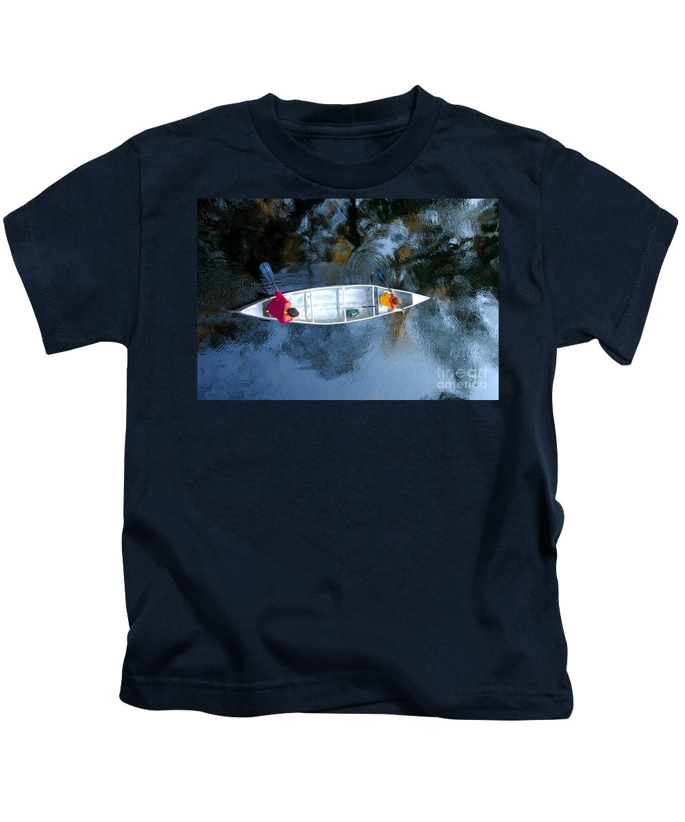 Father Kids T-Shirt featuring the photograph Fishing Trip by David Lee Thompson