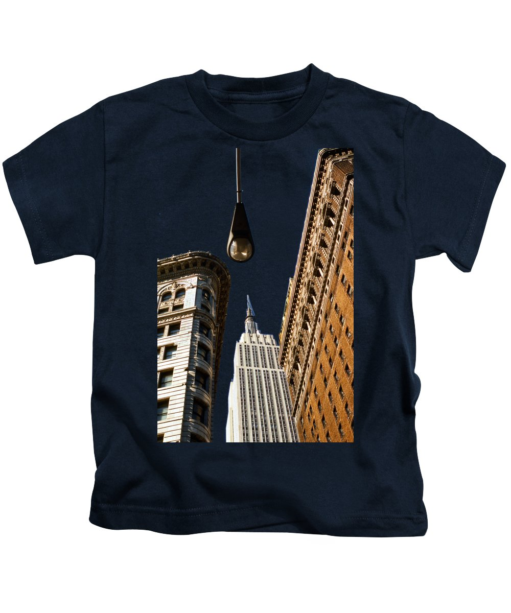 New York City Skyline Photographs Kids T-Shirts