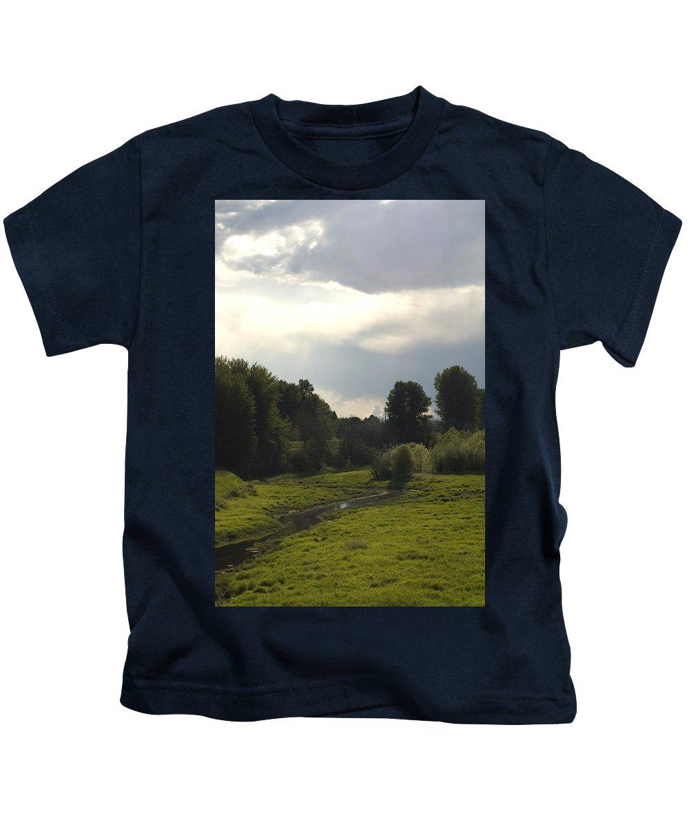 Stream Kids T-Shirt featuring the photograph Flow by Sara Stevenson