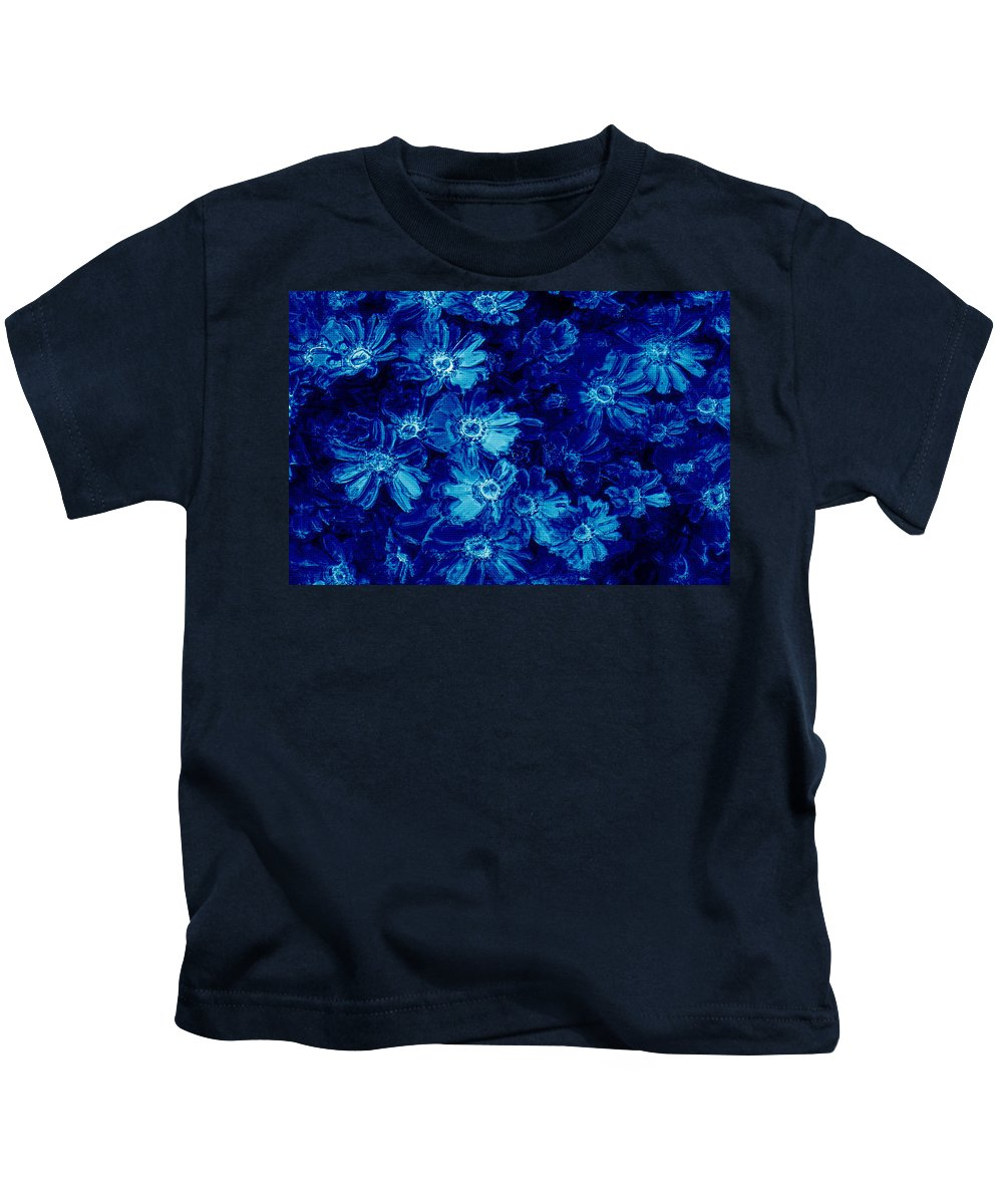 Tile Kids T-Shirt featuring the photograph Flowers On Tiles by Phill Petrovic