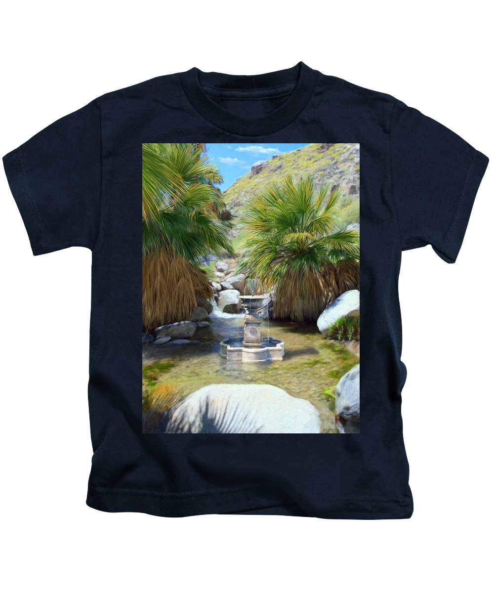 Fountain Kids T-Shirt featuring the digital art Fountain Of Youth by Snake Jagger
