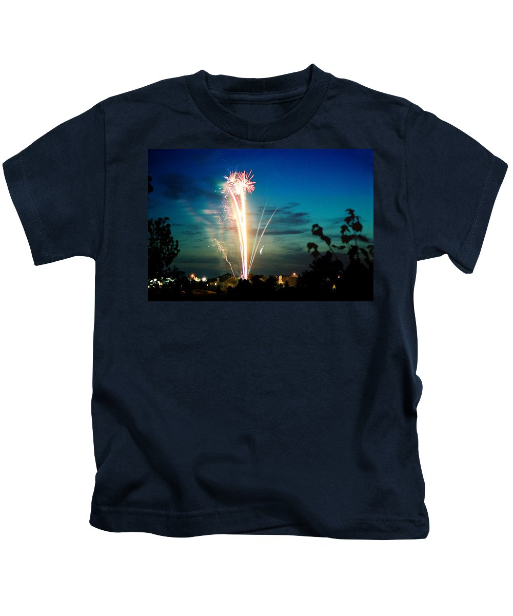 Landscape Kids T-Shirt featuring the photograph Fourth Of July by Steve Karol
