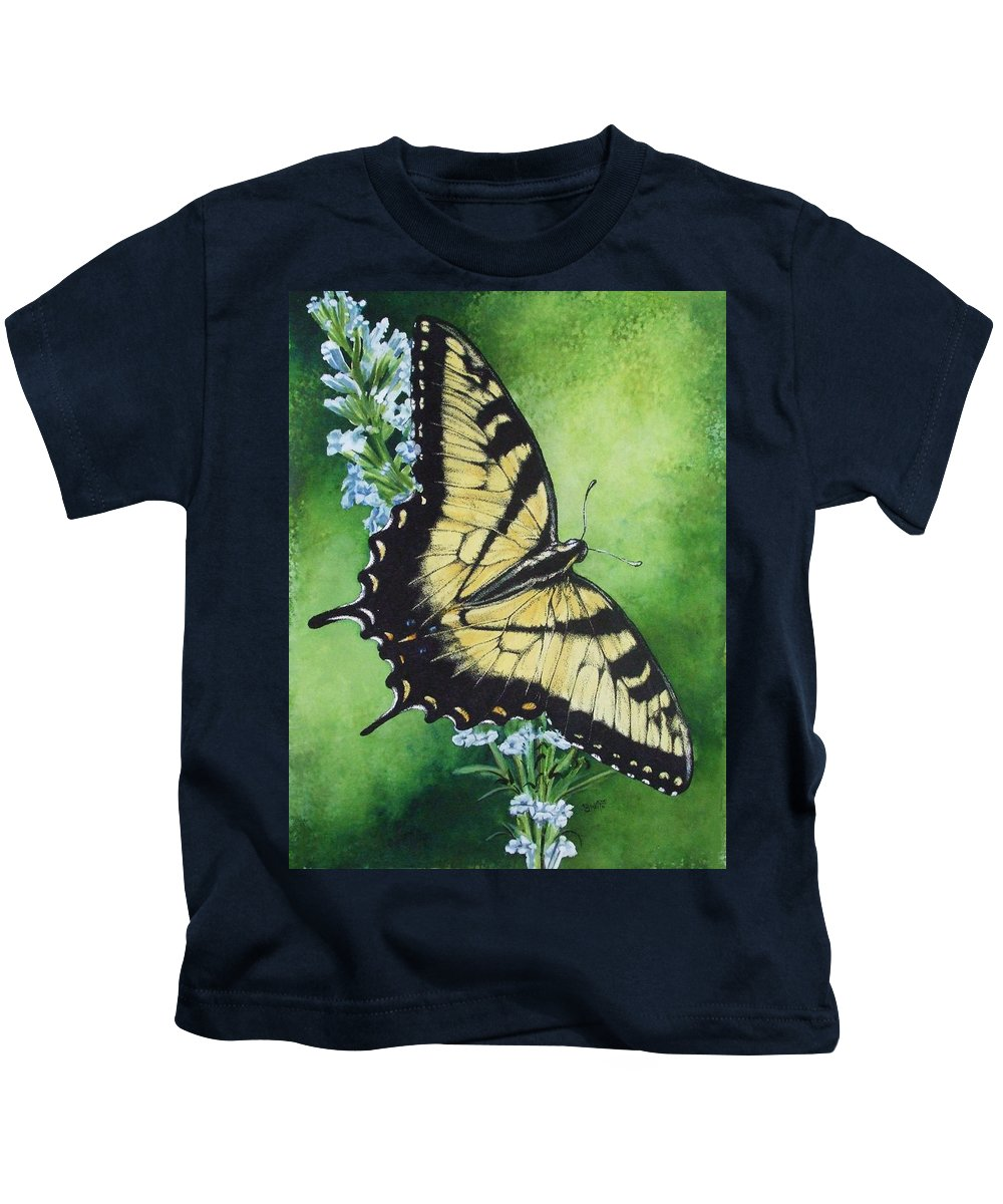 Bugs Kids T-Shirt featuring the mixed media Fragile Beauty by Barbara Keith