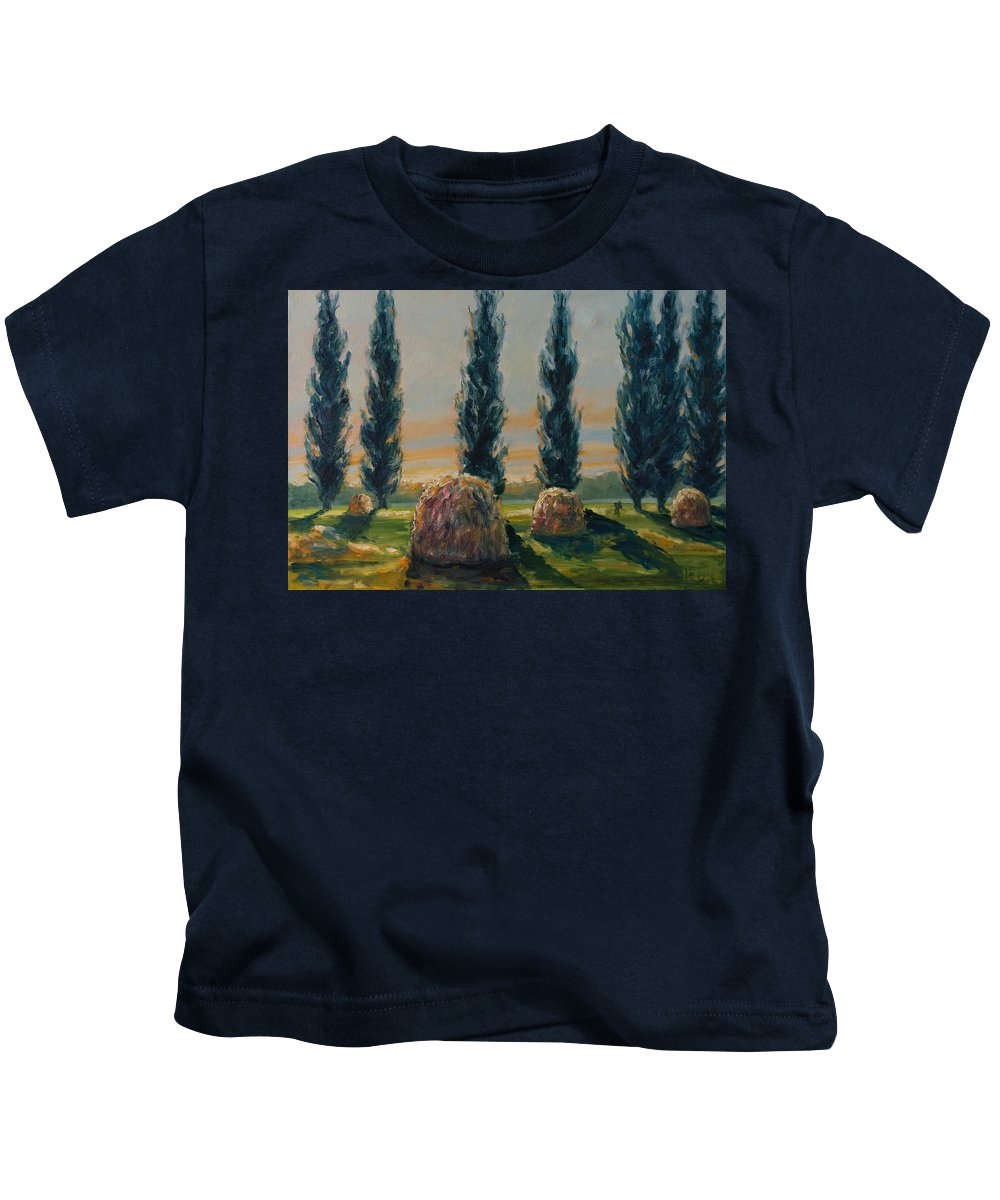 Trees Kids T-Shirt featuring the painting France Iv by Rick Nederlof