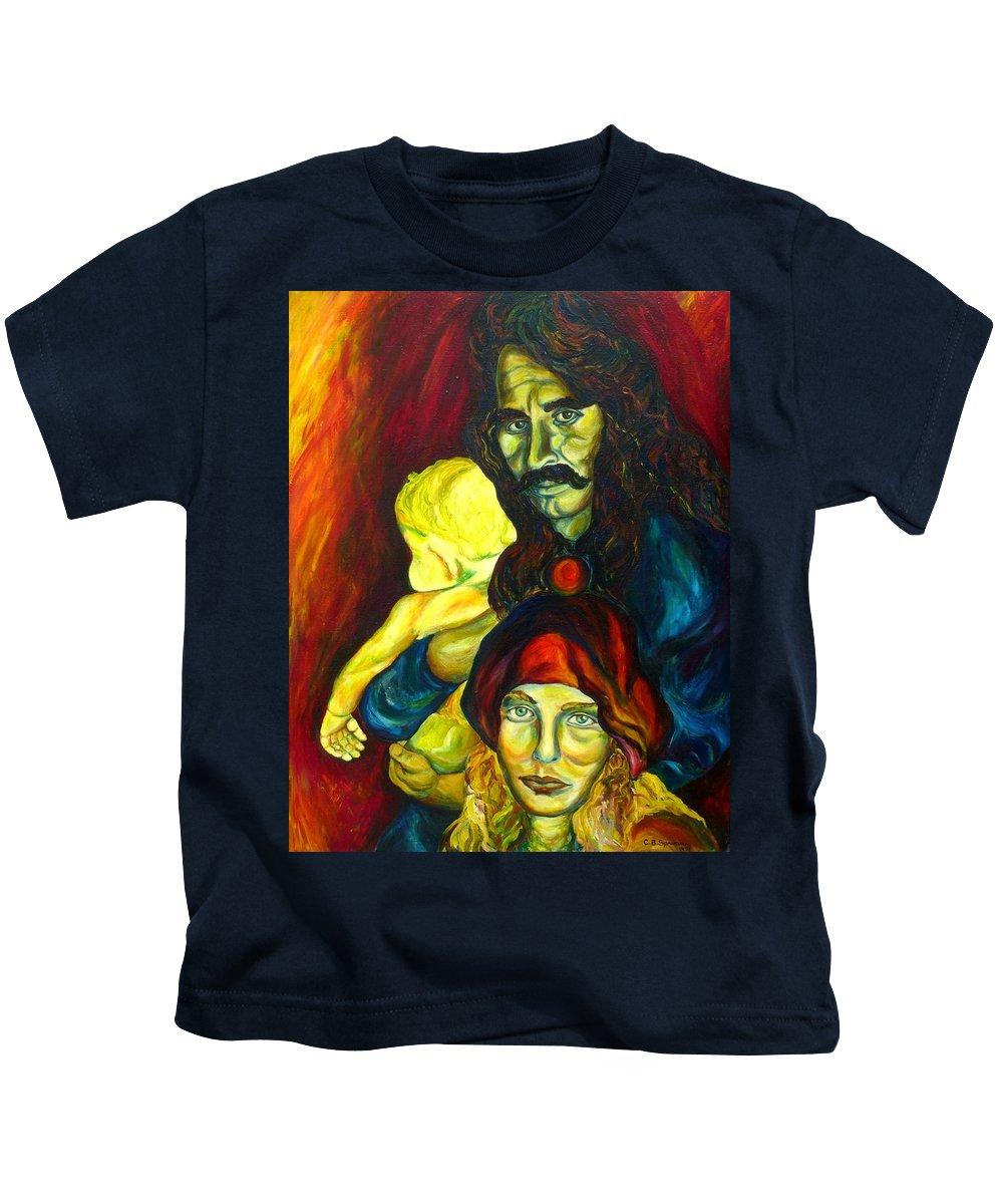 Frank Zappa Kids T-Shirt featuring the painting Frank Zappa  by Carole Spandau